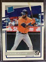 Yordan Alvarez Baseball Rated Rookie Card #45 Donruss Houston Astros RC MLB MINT
