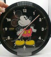 Vintage Walt Disney Mickey Mouse Wall Clock Lorus Quartz Tested! Very nice