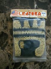 BMX PRO Leather Racing Gloves Diamond Back GT HARO Vintage old School