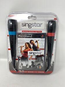 SONY PS2 Singstar Rocks Bundle -  2  microphones & singstar ROCKS! PlayStation 2