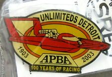 2003 UNLIMITED DETROIT tack pin pinback Hydroplane Boat racing MIP c3
