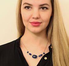 kate spade BLUE LAPIS quarry gems park & lex gemstone necklace earrings SET