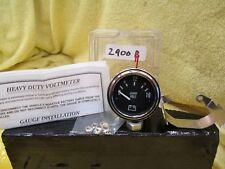 "Heavy Duty Automotive Voltmeter/Gauge 2900b (2 1/16"" Diameter) 12Vdc Make Waves"