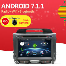 Car Radio Android 7.1.1 GPS Navi Bluetooth SD USB CD DVD For Kia Sportage 2013+