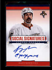 GEORGE PARROS 2013/14 13/14 PANINI SOCIAL SIGNATURES ON CARD AUTO AB7693