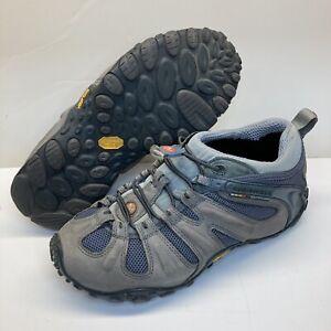 Merrell Chameleon II Stretch Grey Blue Hiking Trail Shoes sz 9.5 US Mens Used