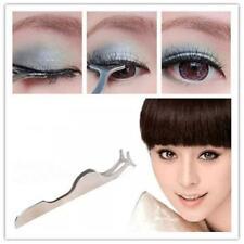 Stainless Steel Silver Beauty Eyelash Curler Tweezer Curling Eye Lash Clip Tool。