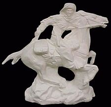 """Roughcut Pony Express 10"""" ceramic bisque, ready to paint"""