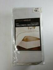 Smoothweave Tailored 18-Inch Full Bed Skirt in White Brand New