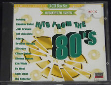 Hits From The 80's CD Album Remember When - Go West, Kim Wilde, Hot Chocolate ++