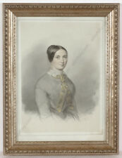 """Charles Backofen (ca.1801-aft.1860) """"Portrait of a lady"""", drawing, 1849"""
