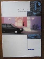 Uno 1992 Car Sales Brochures
