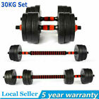 30kg Dumbells Pair of Gym Weights Barbell/Dumbbell Body Building Weight Set UK