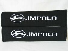 Embroidery Cool Black Seat Belt Cover Shoulder Pads Pairs with Chevrolet Impala