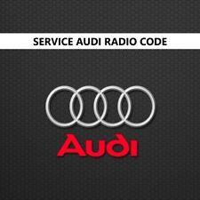AUDI Radio Unlock Pin Code Decode Service RNS-E Plus + Symphony Chorus Concert