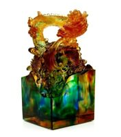 Superb French Art Glass Dragon Sculpture Private French Glass Collection 3kg