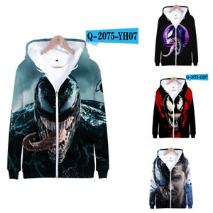 Venom: Let There Be Carnage 3D Hoodie printed Jacket casual autumn sweatershirt