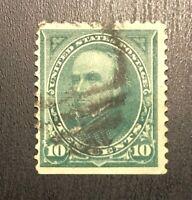 US SCOTT 258 10C WEBSTER USED Stamp