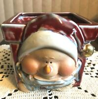 "HOLIDAY CERAMIC PLANTER EXCELLENT CONDITION 5"" TALL X 5"" WIDE"