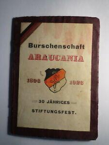 Santiago de Chile - Burschenschaft Araucania - Liederheft 1926 / Studentika
