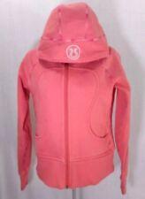 Lululemon Scuba Hoodie Jacket Size 4 Orange Peach Coral