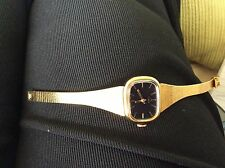 TIMEX VINTAGE WIND UP WATCH. UNWORN CONDITION WITH BLACK FACE. Very dressy watch