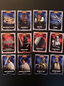 Star Wars 12 Uk Disney Store Promo Card Set 2014 STAR WARS