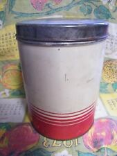 Vintage Country Kitchen Counter Top Can GENERAL CAN CO. tin coffee can 2lb. top