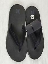 NWT Hurley Lunar Sandal - Black - New Men's Flip Flop Thong Summer Size 13 Shoe