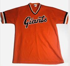 Vtg 80s Pro Knit San Francisco Giants Jersey Large Medium Orange Blank MLB USA