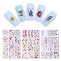 Fruits Ice Cream Water Decal Transfer Stickers National Style Nail Art Decor
