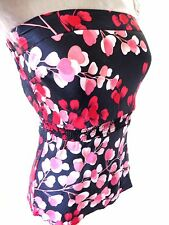 Black Red Pink Oriental Blossom Pure Smooth Silk Bandeau strapless tube Top 12