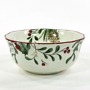 """Better Homes & Gardens WINTER FOREST 28oz Small Serving 7"""" Round Bowl Heritage"""