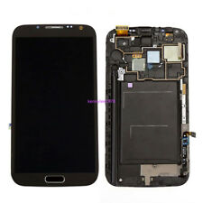 For Samsung Galaxy Note 2 N7105 LCD Display Touch Screen Digitizer Grey+Frame