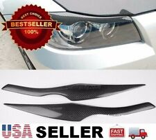 Real Carbon Fiber Headlight Eyelids Eyebrows For BMW 06-12 E90 E91 3 Series
