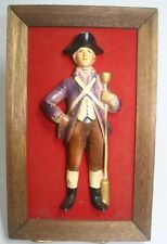 Chalkware Soldier Red Coat Wall Hanging Army Revolution British
