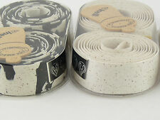 Cinelli Handlebar Tape WHITE & black cork ribbon bar vintage Bike NOS x 2 packs