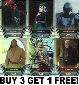 TOPPS STAR WARS 2020 HOLOCRON SERIES FOIL PARALLEL CARDS 1-200 Buy 3 Get 1 Free