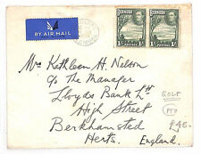 AM148 1948 BERMUDA AIRMAIL *GOLF* Club Hamilton Cover GB Herts