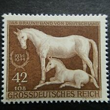 Germany Nazi 1944 Stamp MNH Race Horse 11th Brown Ribbon at Munich Foal WWII Thi