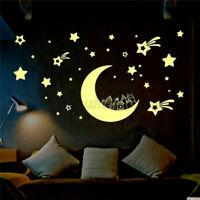 Moon Stars Glow In The Dark Wall Sticker Kids Baby Bedroom Home Ceiling   =