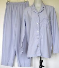TravelSmith Light Purple Polyester L/S Travel Pajama Set S Made in USA