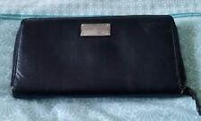 MODAPELLE Black Leather Bifold Wallet Purse B7
