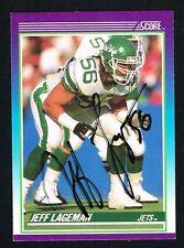 Jeff Lageman #140 signed autograph auto 1990 Score Football Trading Card