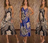 Vestito Lungo Donna Abito  C'MAGNIFIQUE Vestitino D902-B447 Tg Unica   **
