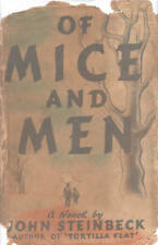 MICE AND MEN-JOHN STEINBECK-1937-COLLECTABLE BOOK W/DJ-BEAUTIFUL COLLECTIBLE!