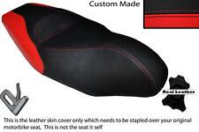 RED & BLACK CUSTOM FITS GILERA NEXUS 125 300 500 DUAL LEATHER SEAT COVER