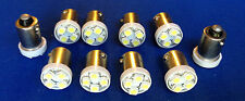 10 Mercury *BRIGHT* White 12V LED Instrument Panel BA9S 1815 Light Bulb 1895 NOS