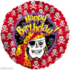 PIRATE Skull N Cross Bones Matey Skeleton Birthday Party Balloon