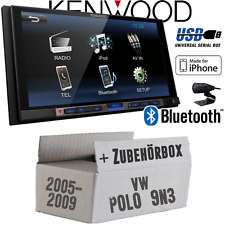 VW Polo 9N3 Kenwood Bluetooth USB MP3 TFT Autoradio Einbauset PKW KFZ Radio 12V